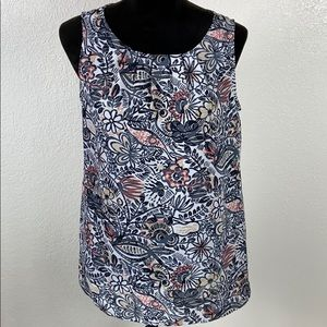🔥3/$30 LOFT Floral Sleeveless Top